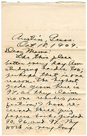 1909 Lipscomb letter
