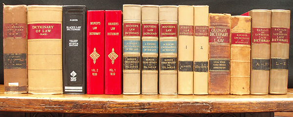 Early US Legal Dictionaries