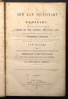 Burrill, first edition, title page