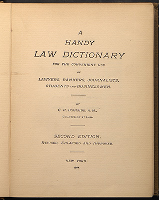 Ironside, title page