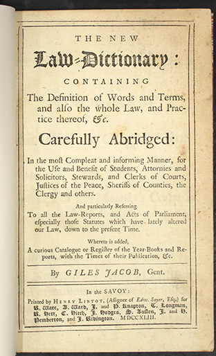 Jacobs 1743, title page