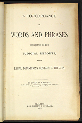 Lawson, title page