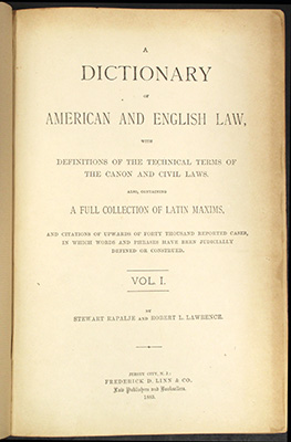 Rapalje & Lawson, title page