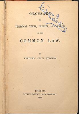 Stimson, title page