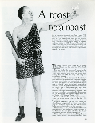 "T.J. Gibson, ""A toast to a roast"""