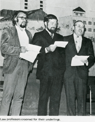 Law Professors in skit, 1972