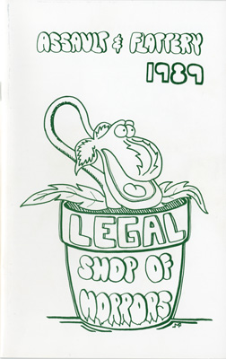 Program cover: Assault  & Flattery 1989 Legal Shop of Horrors