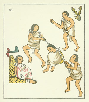 Image of Official being Sentenced by Aztec Judge