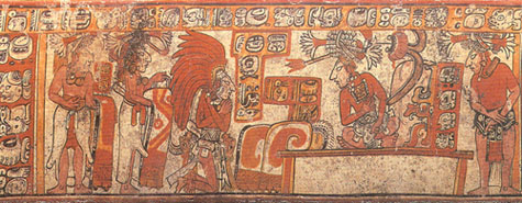 Presentation of Captured Dignitary to Maya Ruler