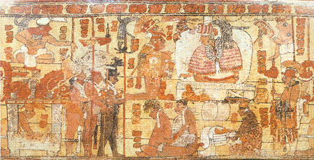 Image of Prisoners Being Presented to a Maya Lord
