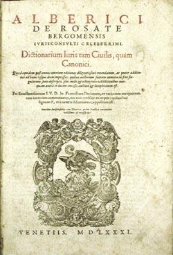 Title page, Dictionarium, 1581