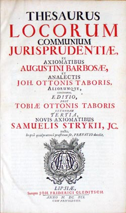Title page, Thesaurus, 1691