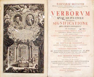 Title Page, de Verborum, 1743