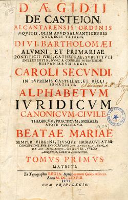 Title page, Alphabetum juridicum, 1678