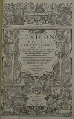 Title page, Lexicon, 1580