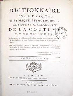 Title page, Dictionnaire, 1780