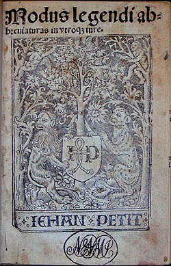Printer's mark, Modus legendi, 1506