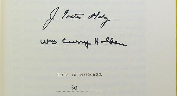 Hertzog, autographs
