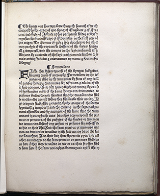 Statutes, first page