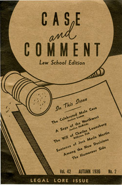 Case and Comment Cover, 1946