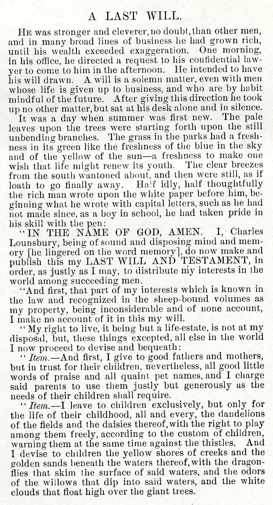 Text of original printing