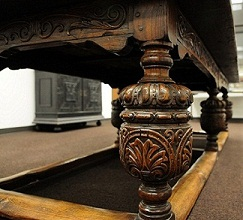 Gould table leg detail