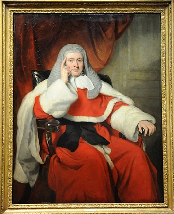 portrait of Sir Henry Singer Keating sitting in a chair