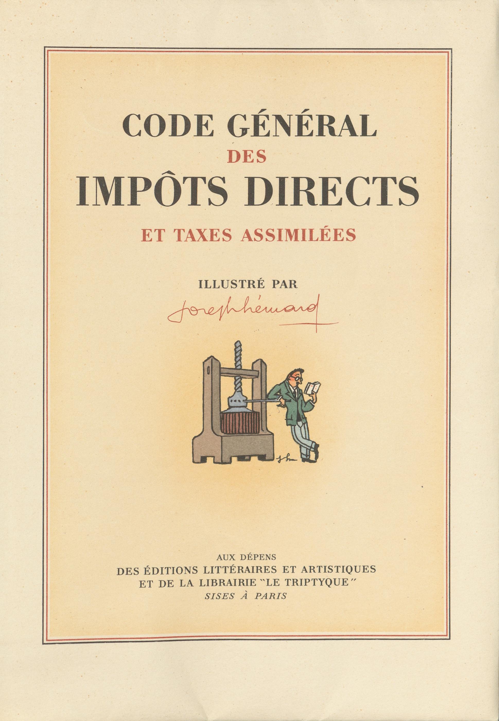 Code général des impôts directs et taxes assimilées