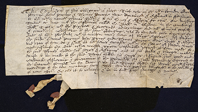 A deed from 1611 entitled Obligation