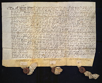 A deed from 1611 entitled Poll Deed