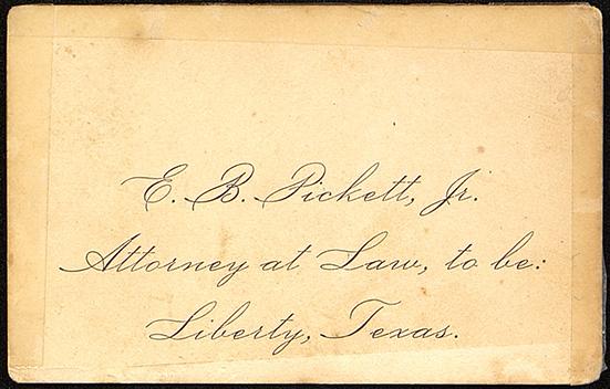 E. B. Pickett Jr. business card