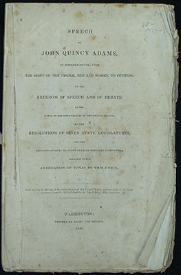 Title page, Speech John Quincy Adams