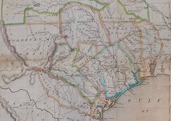 History of Texas, map -- detail