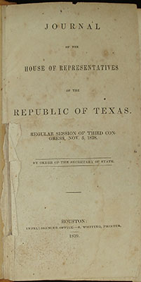 Title page, House Journal