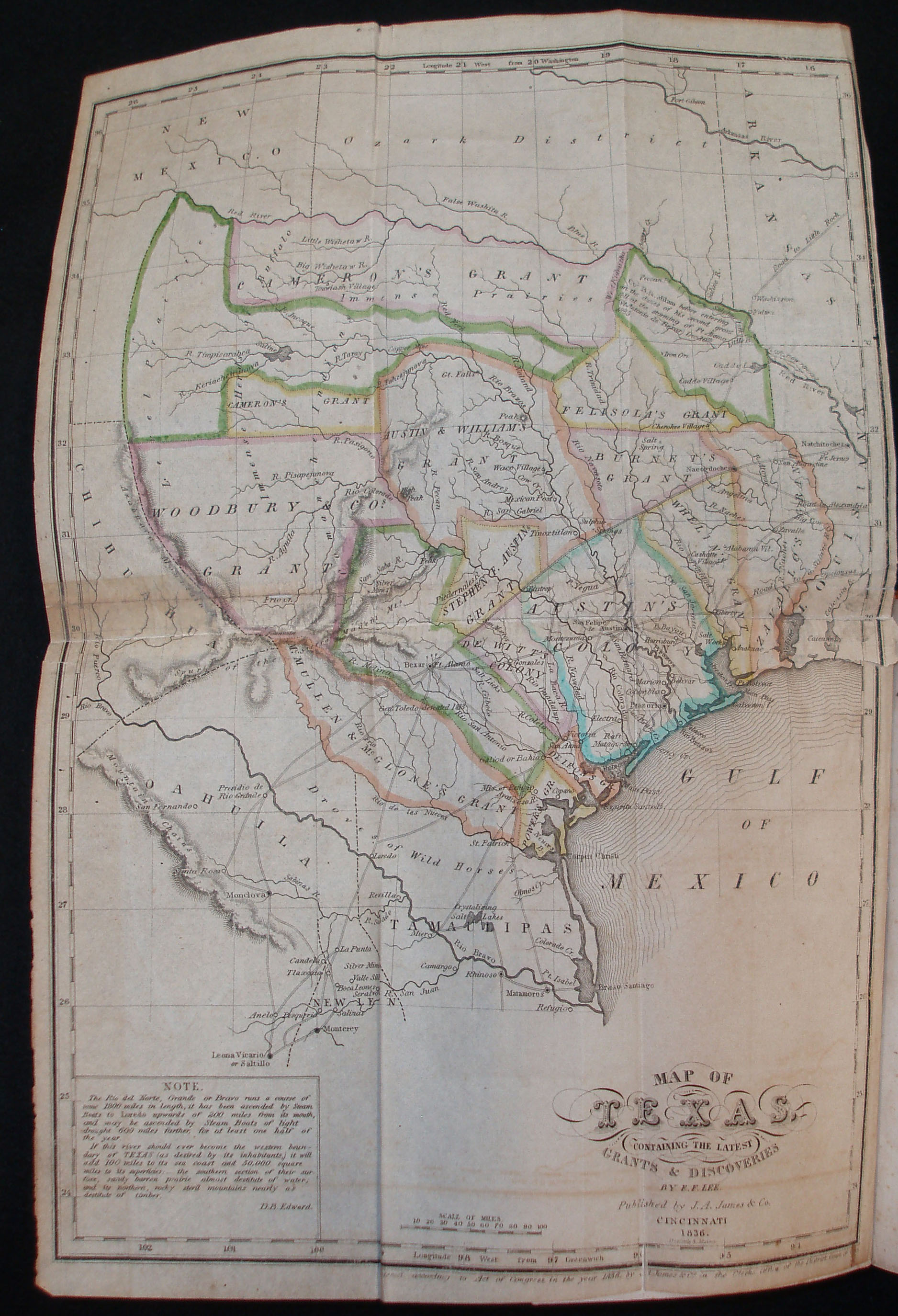 Detail Map Of Texas.Introduction Exhibit Legal Imprints Of Republic Of Texas