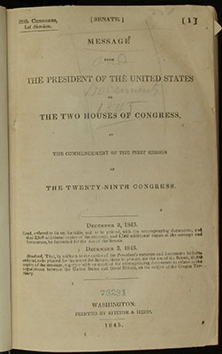 Title page, MEssage from the President