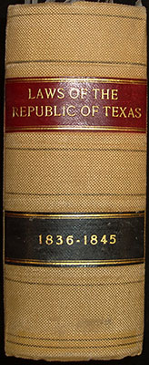 Spine, Laws of the Republic of Texas