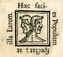Title page Jani Anglorum, detail