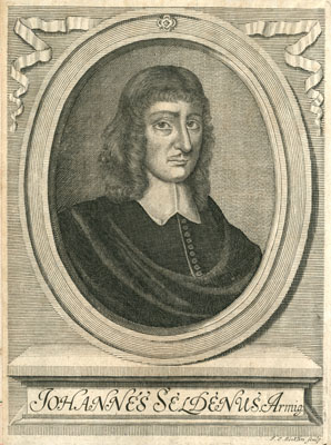 Engraved portrait of John Selden