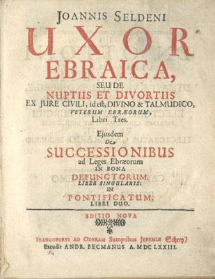 Title page Uxor ebraica, 1673