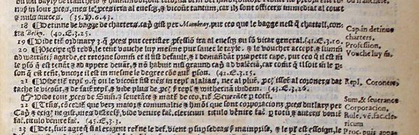 Brooke's Abdridgement, folio 156, detail