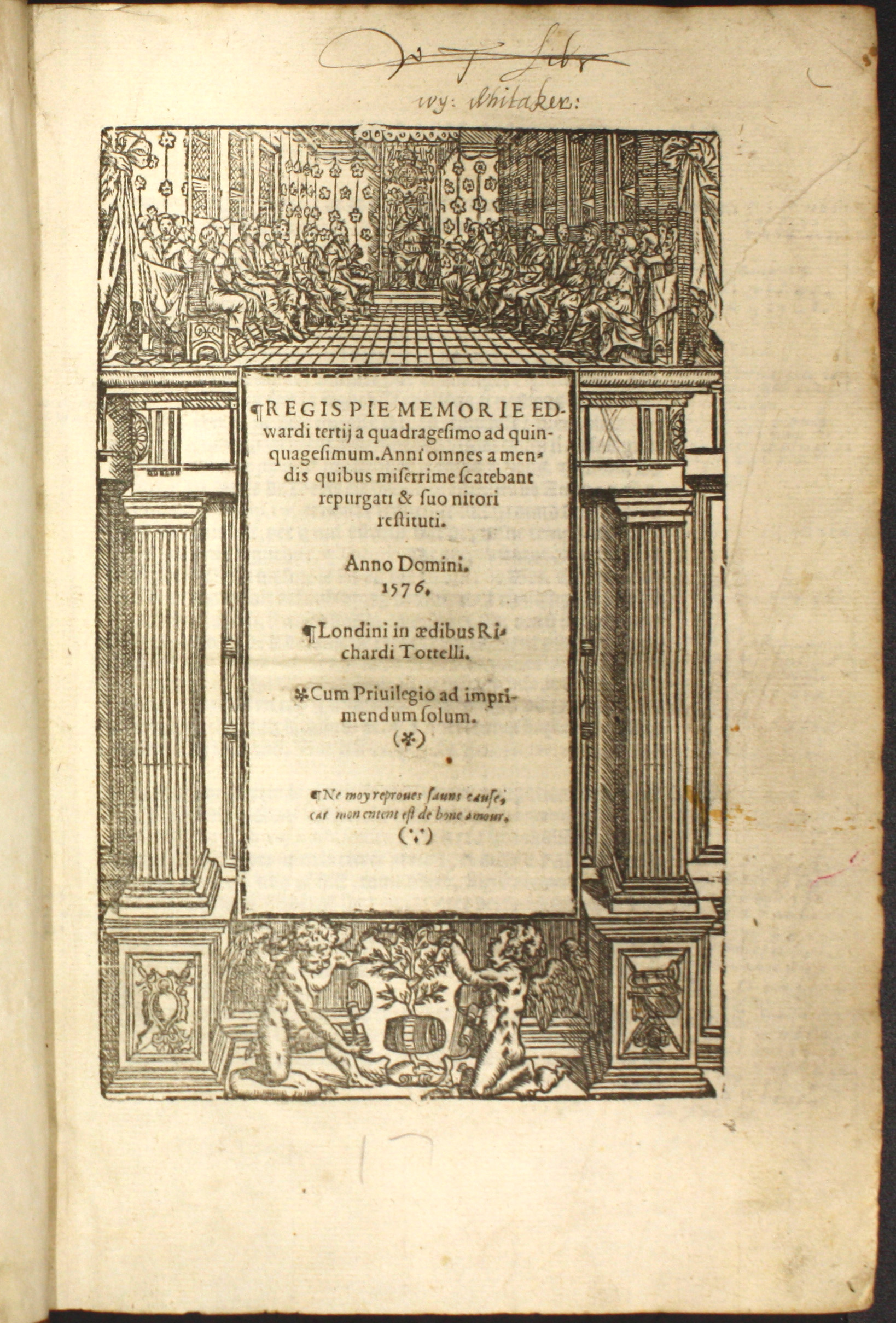 Title page, Year Book of Edward III