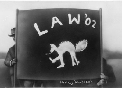 Law '02 banner featuring Peregrinus (1902)