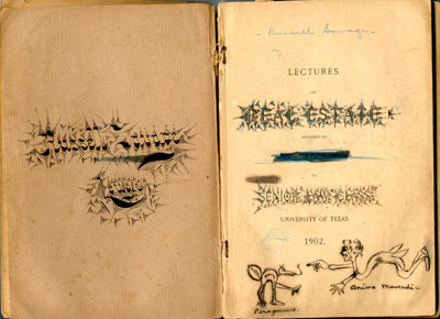 Russell Savage 1902 Notebook pages with drawing of Peregrinus