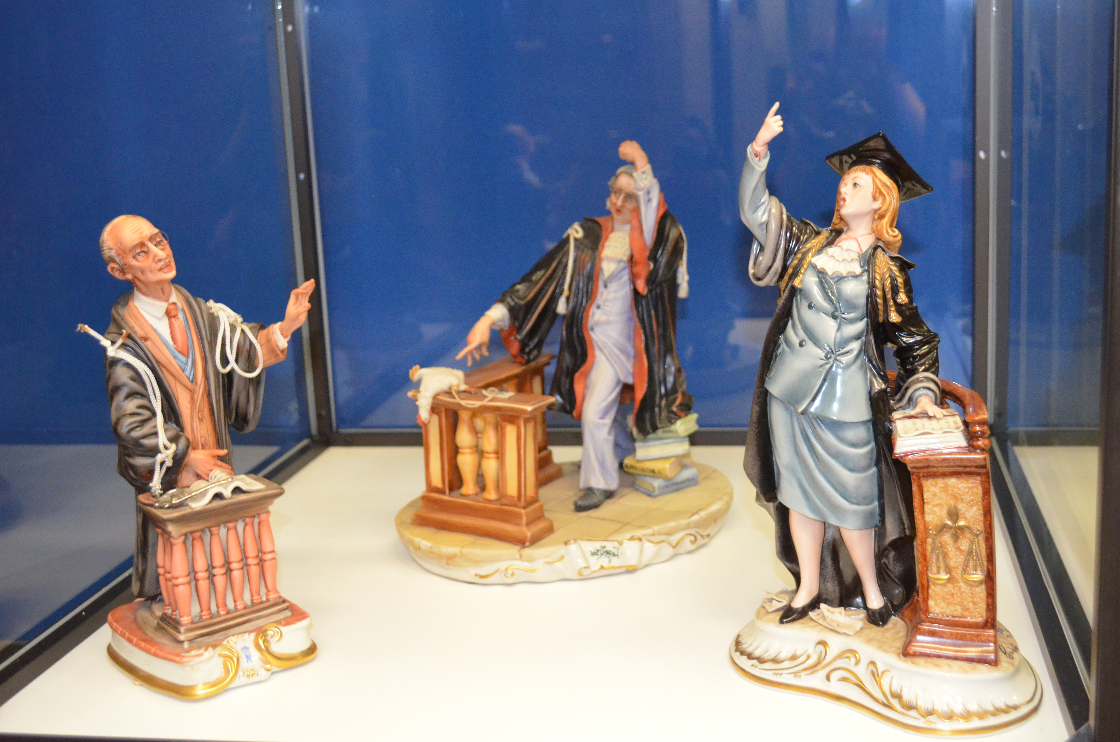 three Capodimonte figurines from the Van Gilder Collection