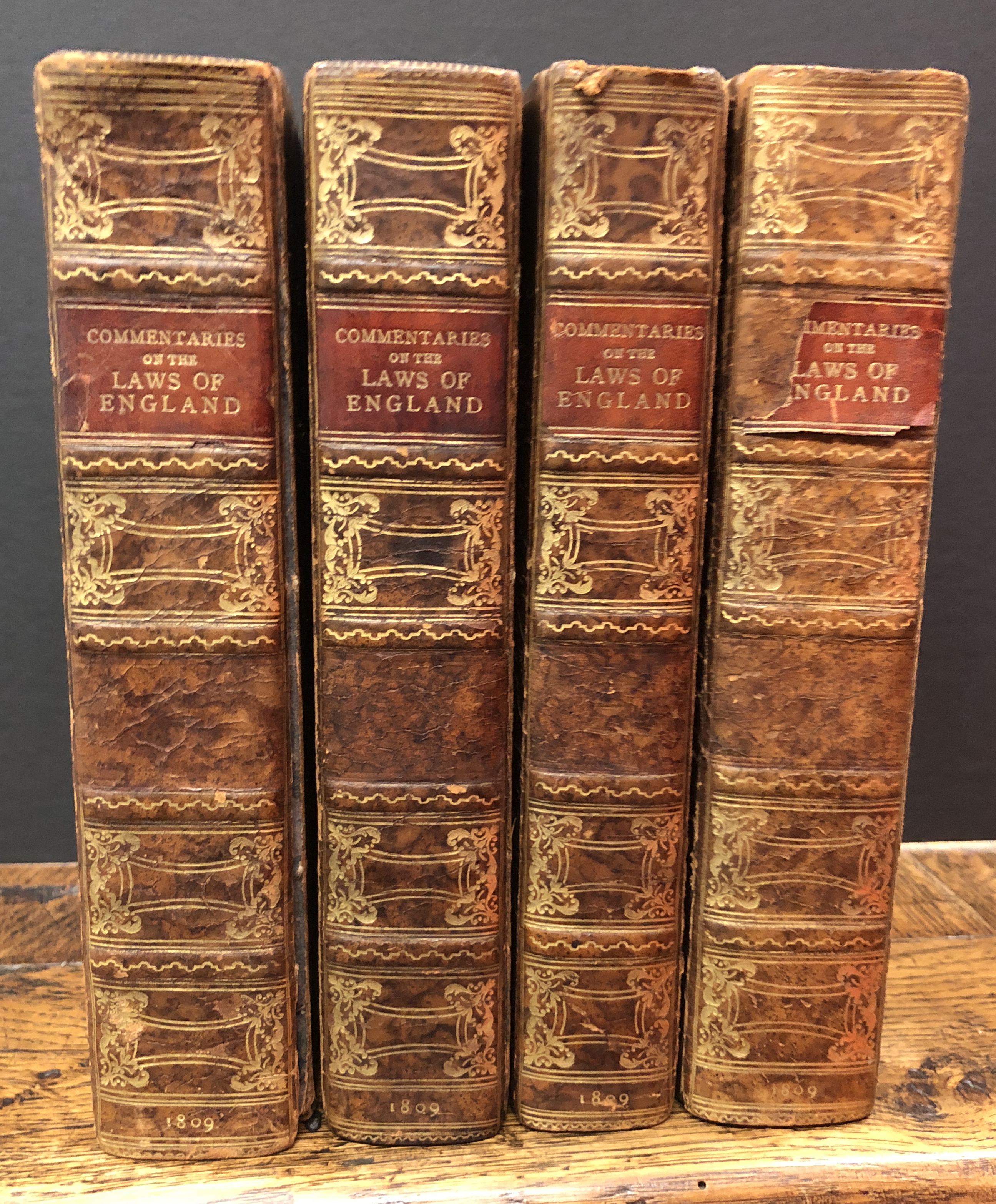 Four volumes 1809 Commentaries on the Law of England