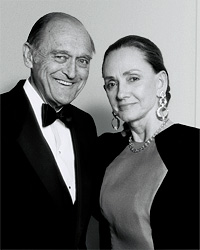 Photo of Judge Justice and his wife