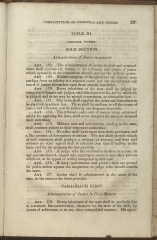 beginning page of Title III, Sole Section