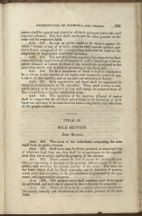 beginning page of Title IV, Sole Section