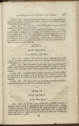 only page of Title V, Sole Section
